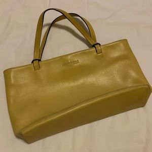 Kenneth Cole yellow leather purse
